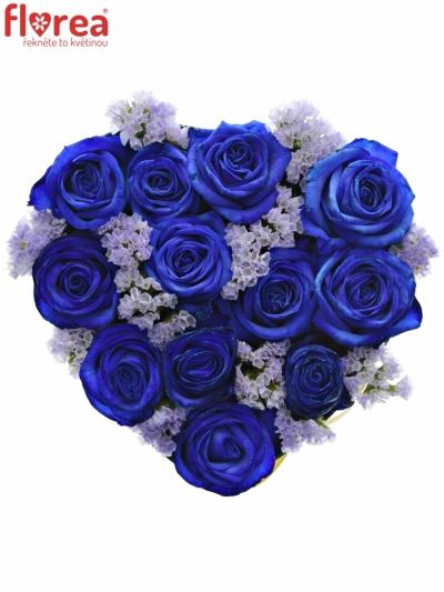 Krabička květin BLUEENNA modrá 19x9cm