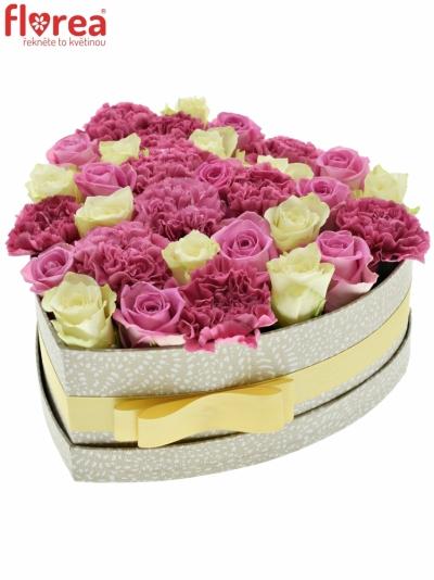Krabička květin CANDY TUULA šampaň 24x10cm