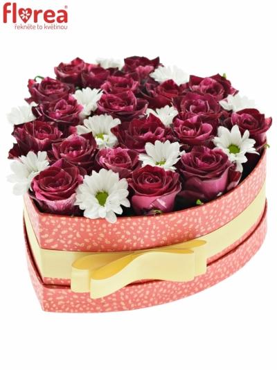 Krabička květin ESTER červená 19x9cm