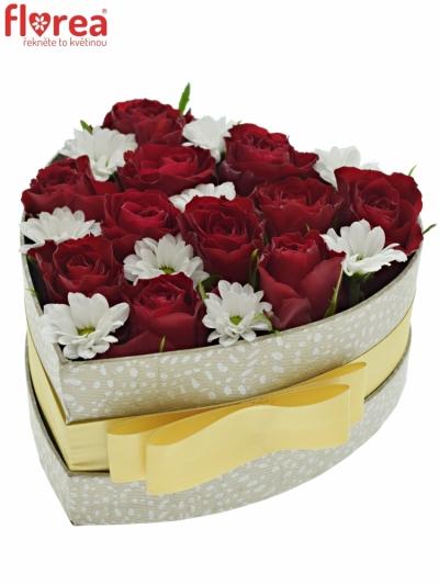 Krabička květin FERRYOS šampaň 15x8cm