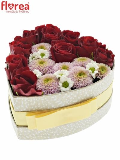 Krabička květin HAGNIA šampaň 15x8cm