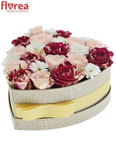 Krabička květin HARLEX šampaň 19x9cm