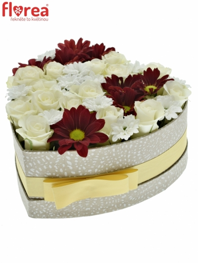 Krabička květin HERRY šampaň 19x9cm