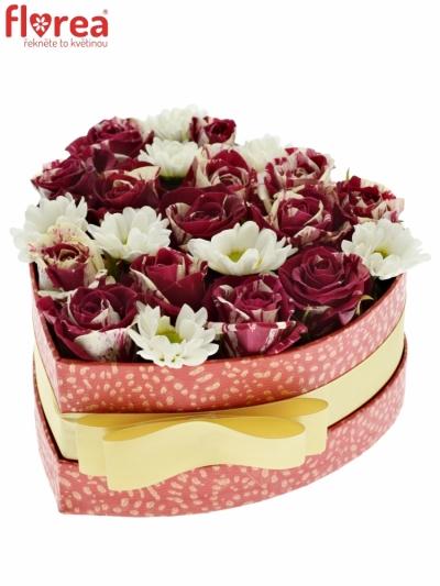 Krabička květin HYMA červená 15x8cm