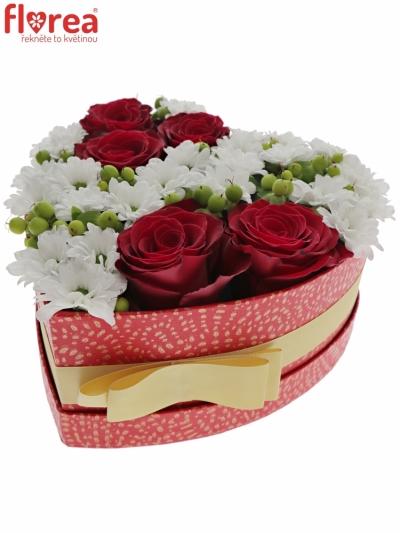 Krabička květin LAYAN červená 19x9cm