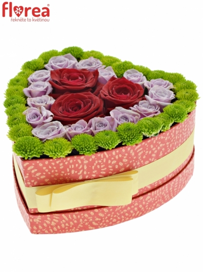 Krabička květin LINDON červená 19x9cm