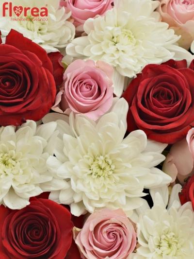Krabička květin LORIKA červená 24x10cm