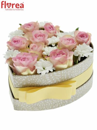 Krabička květin LOVELA šampaň 15x8cm