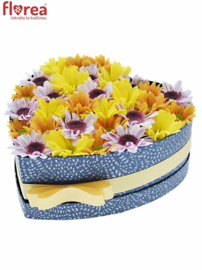 Krabička květin NADIA modrá 24x10cm