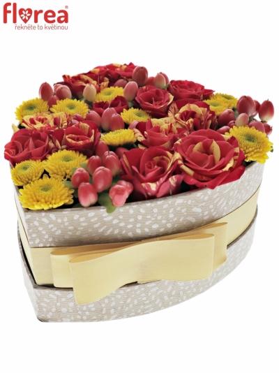 Krabička květin NATANIA šampaň 15x8cm