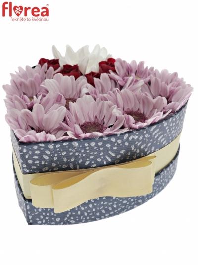 Krabička květin NATESSA modrá 15x8cm