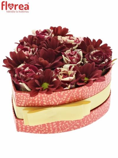 Krabička květin REDLEX červená 15x8cm