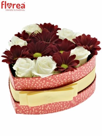 Krabička květin REDPENN červená 15x8cm