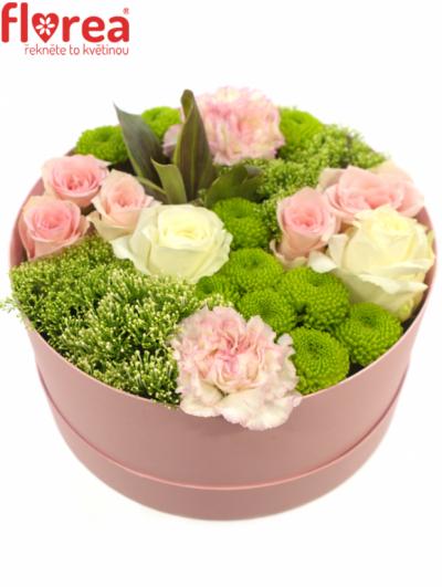 Krabička květin růžová MAKARI Ø20v10cm