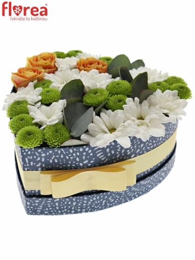 Krabička květin SHEMMA modrá 19x9cm