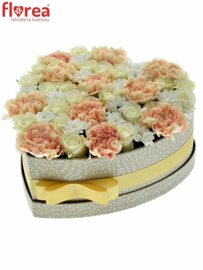 Krabička květin SWEET LINDA šampaň 24x10cm