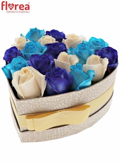 Krabička růží AGATHI šampaň 19x9cm