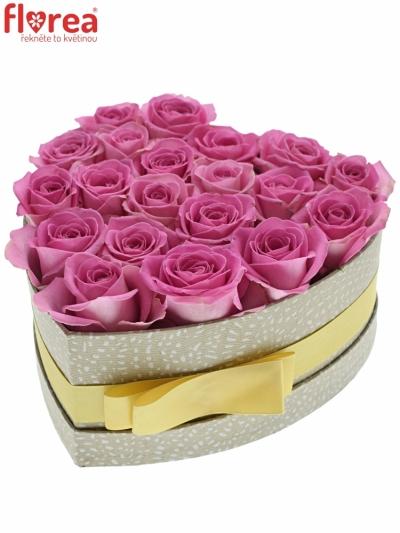 Krabička růží AQUA šampaň 19x9cm