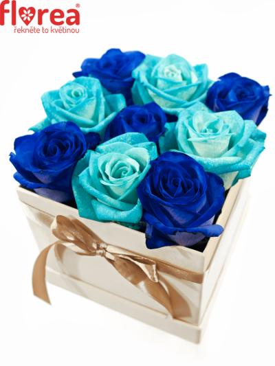 Krabička růží bílá AGATONE 12x12x11cm