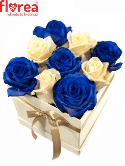 Krabička růží bílá AGLER 12x12x11cm