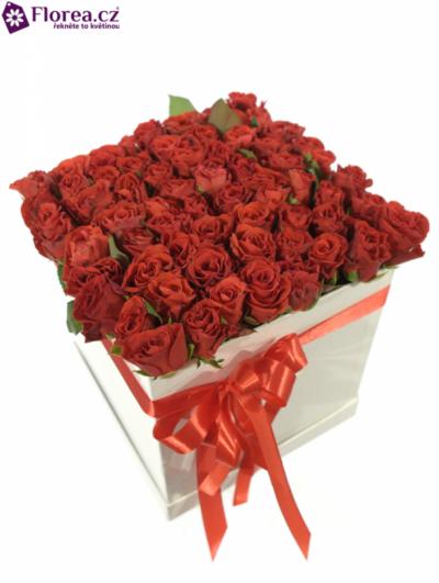 Krabička růží bílá IRAIA 20x20x20cm
