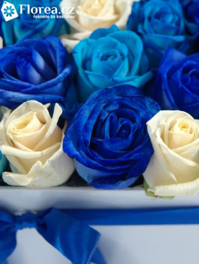 Krabička růží bílá KARIS 16x16x13cm