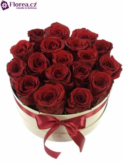 Krabička růží bílá LEANDROS Ø20v10cm