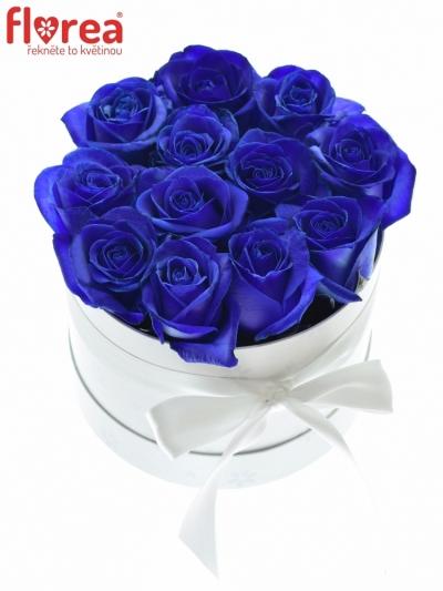 Krabička růží bílá LOTUS 16x11cm