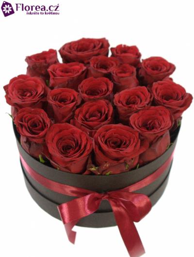 Krabička růží černá KRISTYN Ø20v10cm