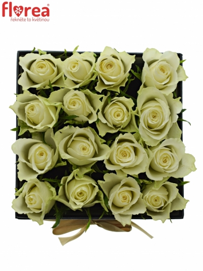 Krabička růží černá MEELINA 16x11 cm