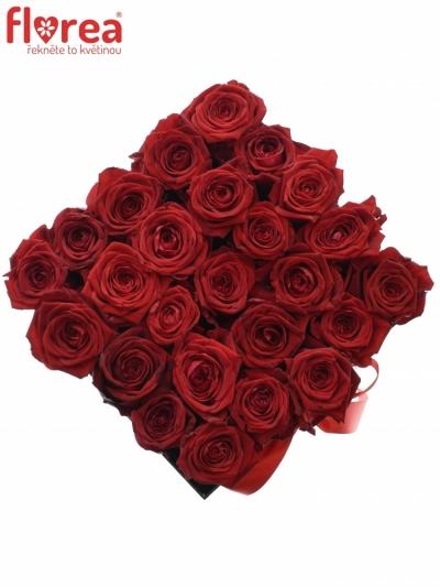 Krabička růží CHANTELLE black 20x15cm