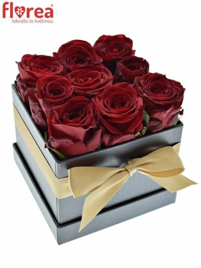 Krabička růží CHANTELLE black12x9cm