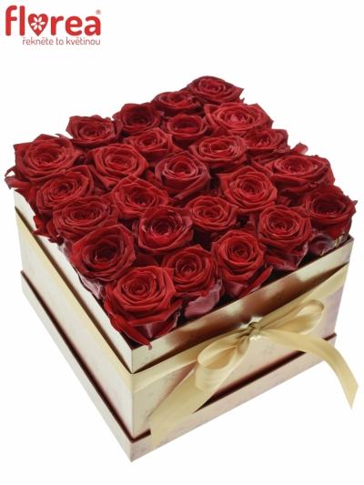 Krabička růží CHANTELLE red 20x15cm