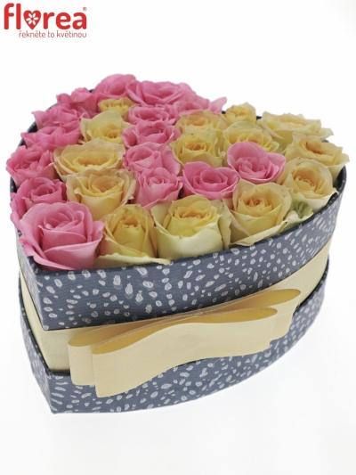 Krabička růží CREAM NATY modrá 15x8cm
