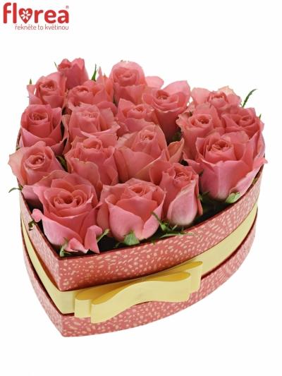 Krabička růží FEIWEL červená 19x9cm