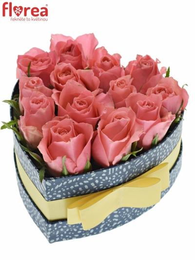 Krabička růží FEIWEL modrá 15x8cm