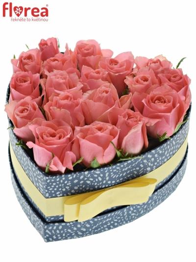 Krabička růží FEIWEL modrá 19x9cm