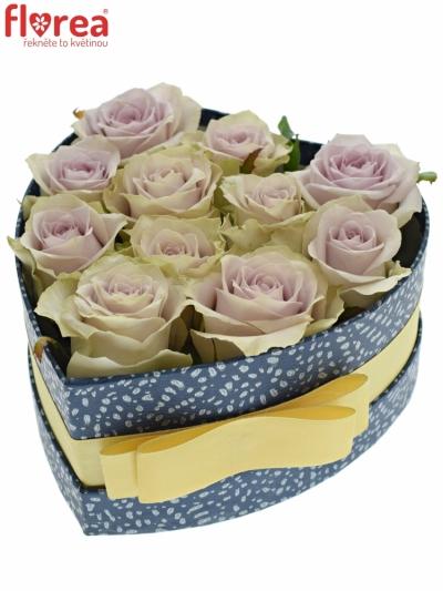 Krabička růží FIFTH AVENUE! modrá 15x8cm