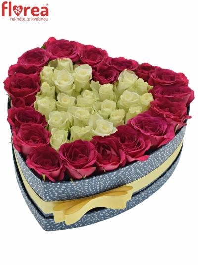 Krabička růží FUCHSITENIA modrá 24x10cm