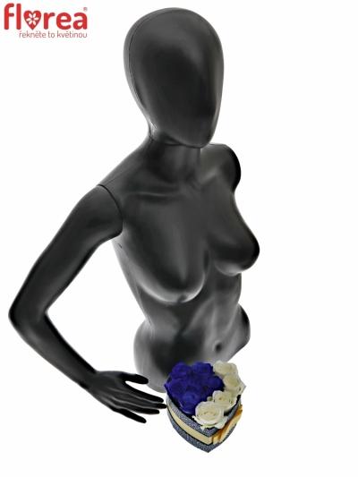 Krabička růží HALCYON modrá 15x8cm