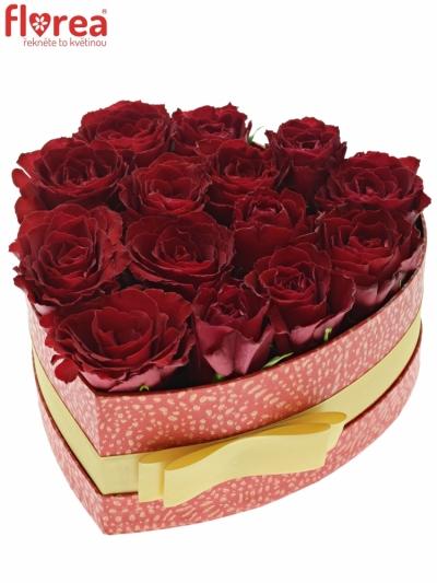 Krabička růží MADAM RED červená 19x9cm