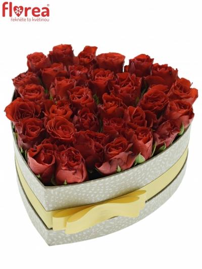 Krabička růží MARIBELLE 19x9cm