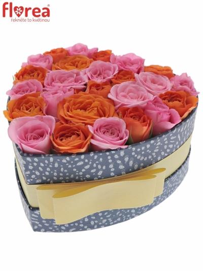 Krabička růží ORANGENATY modrá 15x8cm