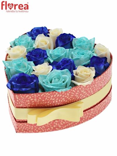 Krabička růží PERSE červená 19x9cm