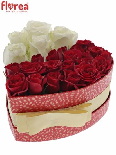 Krabička růží REDDOWN červená 15x8cm