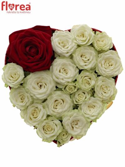 Krabička růží REDEYEA červená 15x8cm