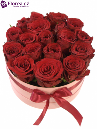 Krabička růží růžová LAYNA Ø20v10cm
