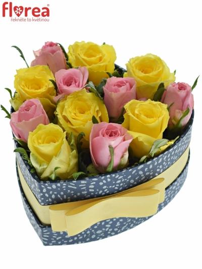 Krabička růží SHANILLA modrá 15x8cm