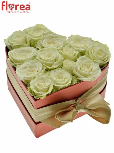 Krabička růží srdce červené GEMINA 14x6cm