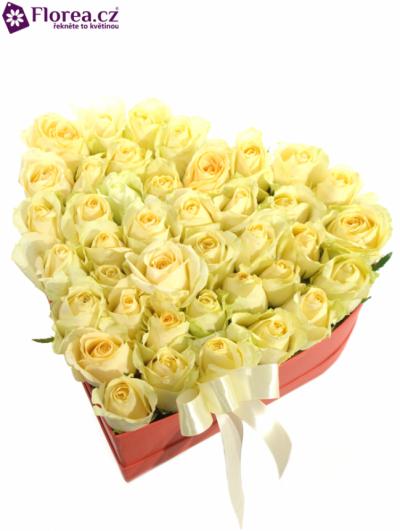 Krabička růží srdce červené IBYCUS 26/9cm
